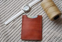 Business card holder, personalized leather card wallet,handmade veg tan leather,case,pouch ,brown