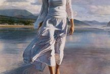 painting ideas women etc / women looking pleasant not tortured in art ideas -   / by A Quezada Duncan
