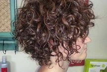 Fine short curly hairstyle