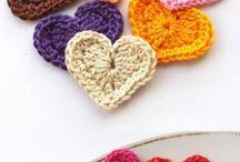 crochet hearts / Lovly crochet hearts