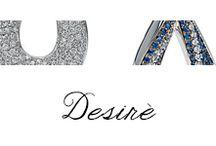 Desirè / #Bibigi | Collezione #Desirè | Gioielli in oro bianco, diamanti e zaffiri blu.
