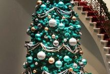 Blue Teal Turquise Christmas