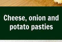 pastry. potatoes . onion
