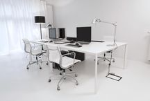 OFFICE _ PULVA _ P.02 / PULVA, minimalistic, interior design, metal, minimal, modern, materials, office, white, pure