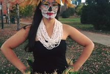 Sugar Skull Polynesian Dancers / Photos and makeup by Judith.  During Halloween and Fall we wanted to make it into a different photo shoot and represent Cultures that are fun and exciting while representing The Polynesian Islands and Hispanic Culture.  Photos also by Rachel Henry.  Check out our Instagram #manakalama and purchase prints @ https://www.saatchiart.com/rachelhenry