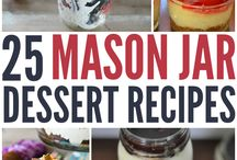 Easy Foods to Make in a Jar / There are many ways to use a mason jar. The new trend is with food! How do you like to use your mason jars?