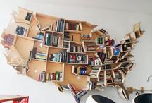 The Best Bookcases / Fabulous bookcases with beautiful decorataive books.