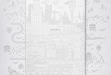 Xperia Z3 - Limited Edition / Nous avons demandé à trois artistes de créer une oeuvre originale représentant leur ville sur un Xperia Z3, un Xperia Z3 Compact et une Xperia Z3 Tablet Compact.   Voici le résultat.  / by Sony Xperia