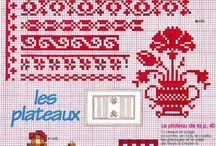 Cross stitch borders / Borders cross stitch