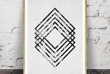 Geometric / Black and White