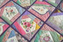 vintage embroidery guilts