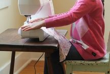 Kids learn to sewing