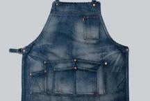 denim / apron ユニフォーム 作業着 ジーンズ  Operational apron jeans work  uniform denim leather 皮 レザー デニム エプロン リメイク remake