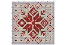 crosstitch - kvadrater og puter