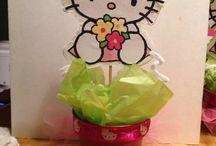 Kids parties / Hello Kitty centerpieces / by Andrea Ramos-Suarez