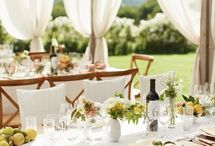 Tables and centre pieces
