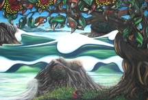 Original Sea Scapes - Art by Daryn Mcbride / Oil Pastel on Linen. Double stretched over heavy canvas.