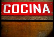 Rojos / RED vitreous enameled signs