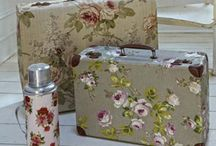 Fabric Covered Suitcase
