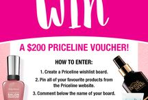 WIN Your Wishlist Competition / WIN a $200 Priceline Gift Card! Simply create a wishlist of products from the Priceline website, and comment below our pin the name of your board. Starting pinning now > http://bit.ly/28NXFUY. Comp ends 29th June 2016. Ts&Cs > https://priceline.pgtb.me/xLfMn6.