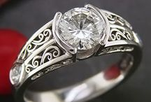 jewellery semi / half bezel rings