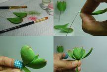 modelované kytky