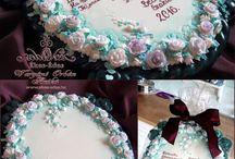Roses / royal icing cookies, courses honeybread, gingerbread, mézeskalács,