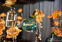 Blue and Gold / Blue and gold decor ideas for dinner party or wedding.