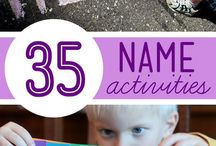 Name Activities / Activities to help learn name! (with some color, fine motor, and shape activities mixed in!)