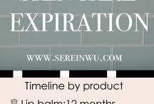 expiration skincare makeup etc
