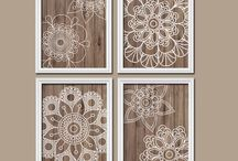 Wood Accents / Organic textures and images that pair well with wood decor!