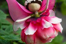 muñecas flores y alambre