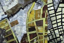 MAPPING & MAP ART / Works of Art inspired by maps or map-like imagery. / by Quiltsbyvalerie