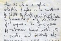 Quaderno delle ricette / Quaderno delle ricette della Olga