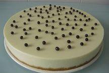 tarta de chocolate blanco y queso