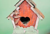 Fuglehuse og foderbrætter