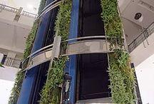 Jardins Verticais / Conheça diversos tipos de Jardins Verticais e suas aplicações para ambientes Internos, Externos, Residenciais e Corporativos.