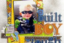 Scrapbooking Boy Pages