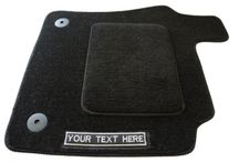 Personalised Car Mats {Made in Britain} / Personalise your Car Mats by adding a coloured trim or up to 20 characters of text