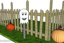 Halloween Decoration Ideas / Simple decoration ideas for Halloween. Build a graveyard fence, wooden pumpkins, wood lanterns or even ghost. Decorating your backyard for Halloween has never been easier.