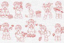 Sweet embroidery / Imágenes que pueden servir para bordar o para quilting / by Adriana Herrera Araya