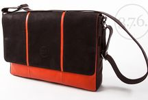 3.7.6. Laptop Messenger Bag M15 - brown / orange / brown / Natural leather in various colous, with shoulder strap; fits Laptops up to 15""