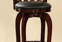 Bar Stools / Wood and metal bar stools
