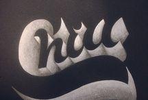 Typografi på tavledør