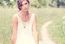 Love and Lace / White spring dresses made of cotton & lace, beautiful flower & lace head pieces: All for close up portraiture.