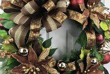 brown Christmas wreaths