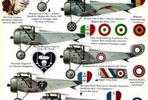 Aircrafts WW I Nieuports