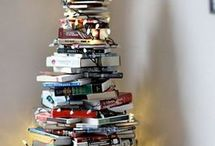 xmas trees with books