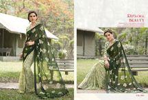 2185 Silky Chiffon Fashionable Saree Collection