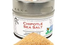Chipotle Sea Salt Inspiration / Deep smoky flavor lend to this salt to change the way that meats, veggies, and virtually everything else is prepared. Add a rich flavor with just a sprinkle.